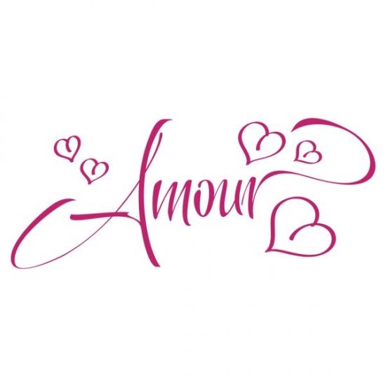 Фото - Наклейка Интерьерная Amour купить в киеве на подарок, цена, отзывы