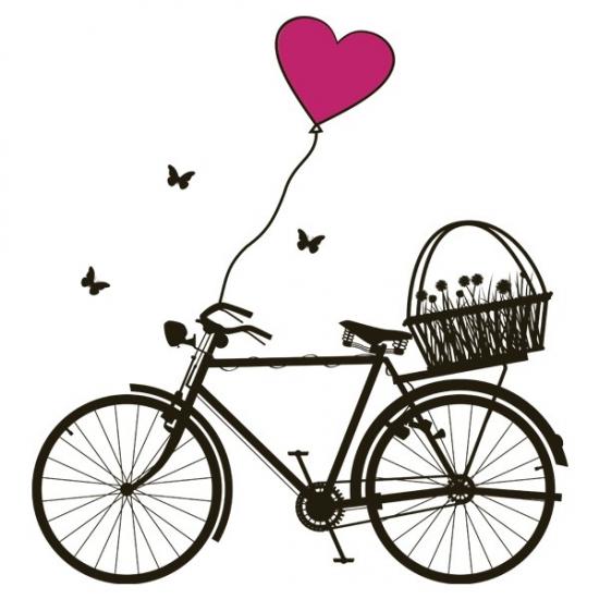 Фото - Наклейка Интерьерная Bicycle купить в киеве на подарок, цена, отзывы