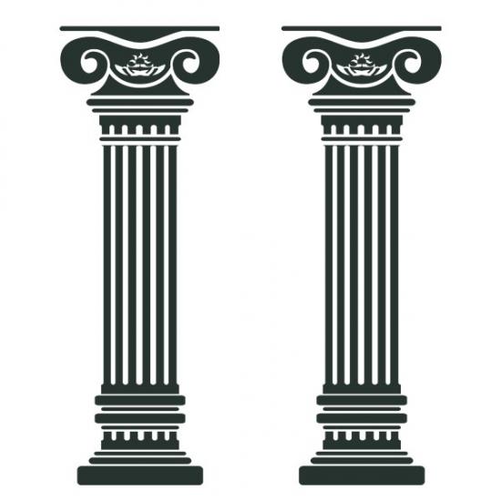 Фото - Наклейка Интерьерная Columns купить в киеве на подарок, цена, отзывы