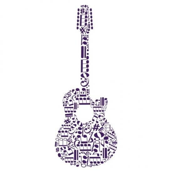 Фото - Наклейка Интерьерная Guitar купить в киеве на подарок, цена, отзывы