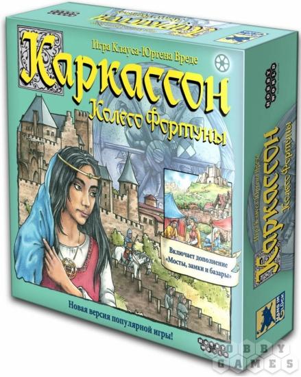 Фото - Настольная игра Каркассон Колесо Фортуны купить в киеве на подарок, цена, отзывы