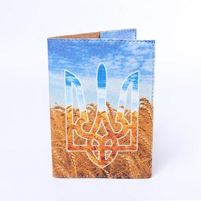 Фото - Обложка на паспорт Герб та пшениця купить в киеве на подарок, цена, отзывы