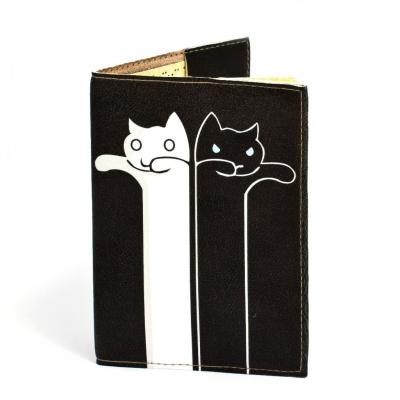 Фото - Обложка на паспорт Коты Инь Янь купить в киеве на подарок, цена, отзывы