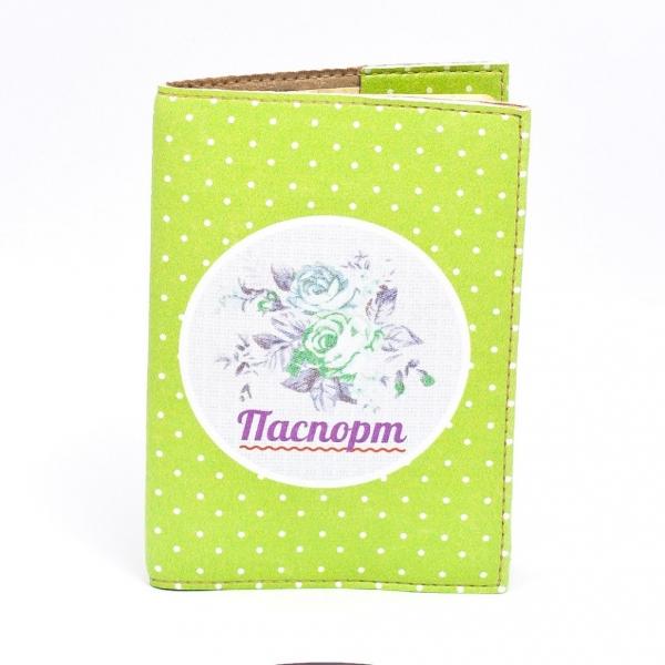Фото - Обложка на паспорт винтаж зеленые розы купить в киеве на подарок, цена, отзывы