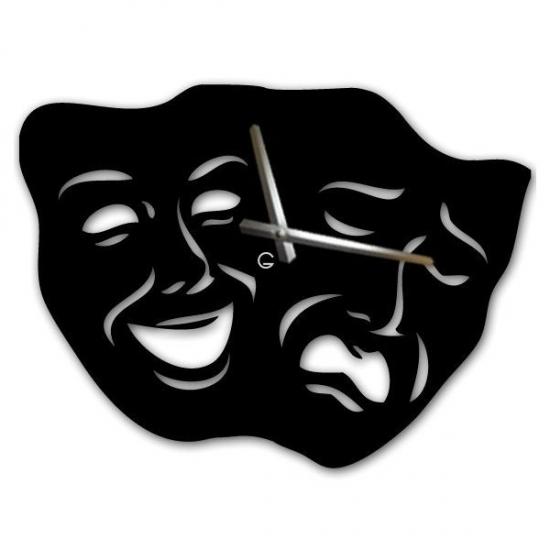 Фото - Оригинальные настенные часы Masks купить в киеве на подарок, цена, отзывы