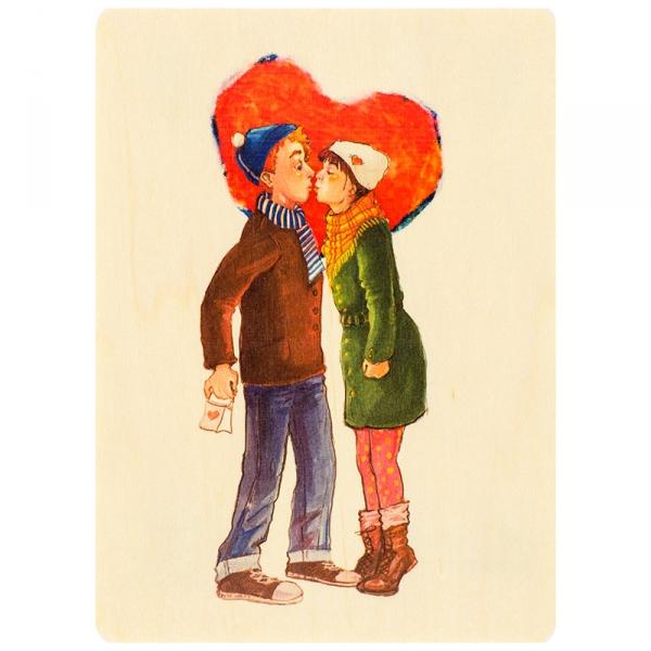 Фото - Открытка из дерева История любви купить в киеве на подарок, цена, отзывы