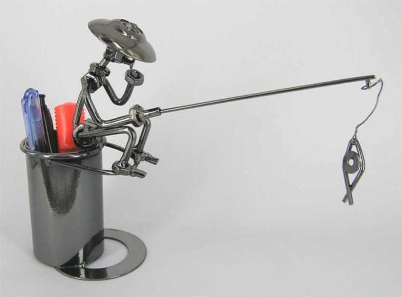 Фото - Техно арт Рыбак с подставкой купить в киеве на подарок, цена, отзывы