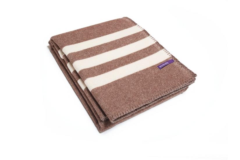 Фото - Плед DUSK STRIPES коричневый с белым купить в киеве на подарок, цена, отзывы