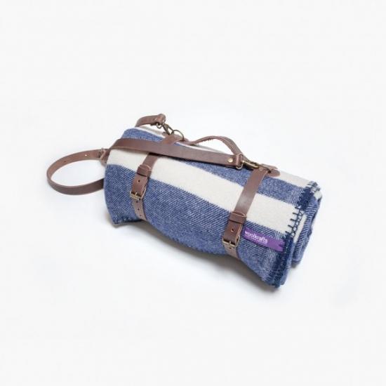 Фото - Плед OCEAN STRIPES с кожаным ремешком купить в киеве на подарок, цена, отзывы