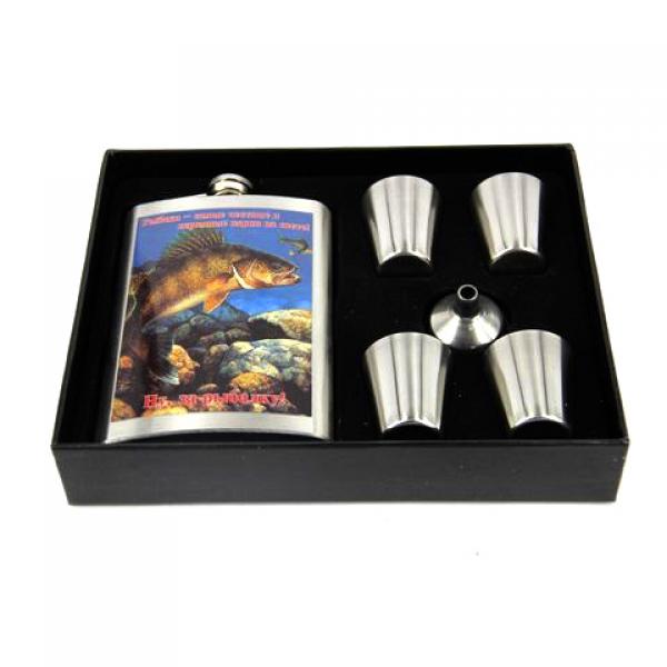 Фото - Подарочный набор Фляга Ну за рыбалку купить в киеве на подарок, цена, отзывы