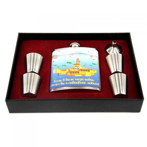 Фото - Подарочный набор Фляга  Если б было море водки, стал бы я подводной лодкой купить в киеве на подарок, цена, отзывы