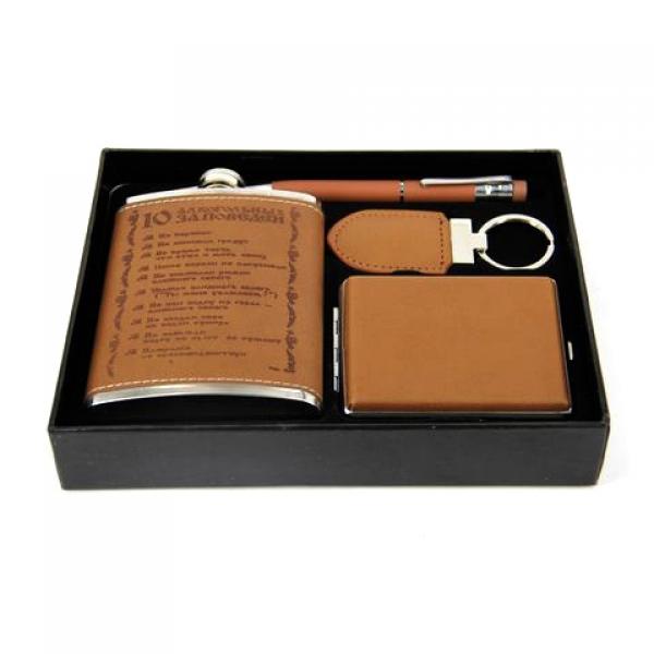 Фото - Подарочный набор Фляга алкогольные заповеди  купить в киеве на подарок, цена, отзывы