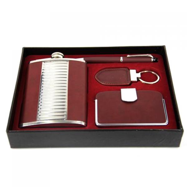 Фото - Подарочный набор Фляга бордовая купить в киеве на подарок, цена, отзывы