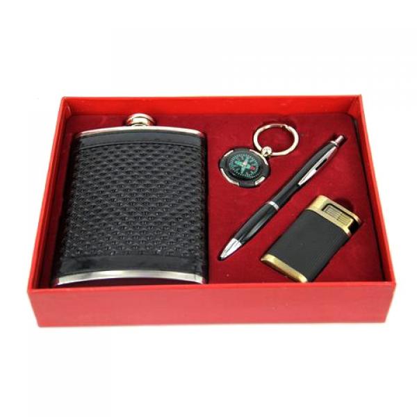 Фото - Подарочный набор Фляга черная универсальная купить в киеве на подарок, цена, отзывы
