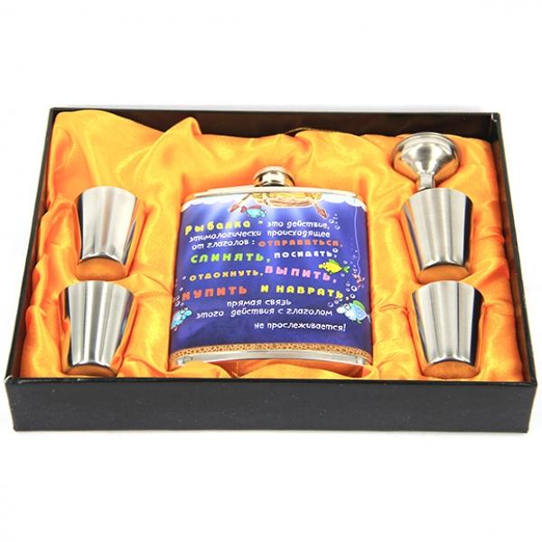 Фото - Подарочный набор Фляга рыбалка купить в киеве на подарок, цена, отзывы