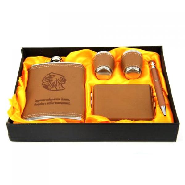 Фото - Подарочный набор Фляга спиртное небольшими дозами безвредно в любых количествах купить в киеве на подарок, цена, отзывы