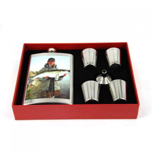 Фото - Подарочный набор Фляга судак купить в киеве на подарок, цена, отзывы