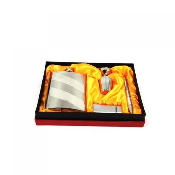 Фото - Подарочный набор Фляга в полоску купить в киеве на подарок, цена, отзывы