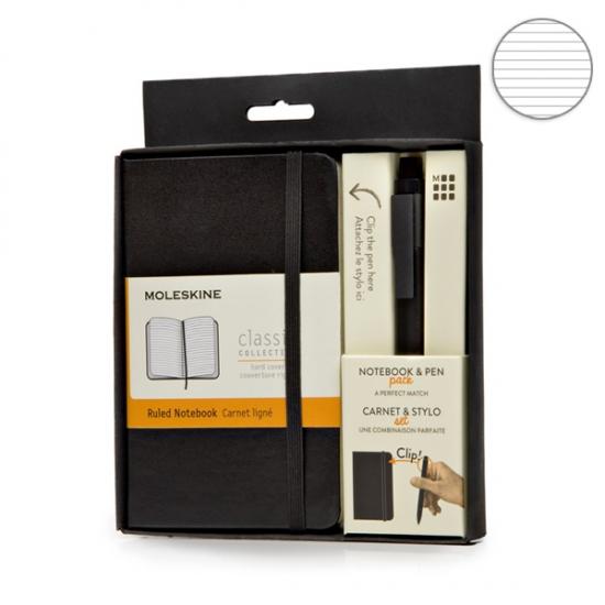 Фото - Подарочный набор Moleskine блокнот карманный + ручка купить в киеве на подарок, цена, отзывы