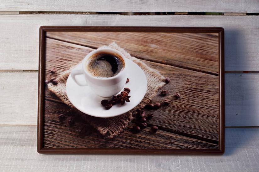 Фото - Поднос с подушкой Кофе  купить в киеве на подарок, цена, отзывы