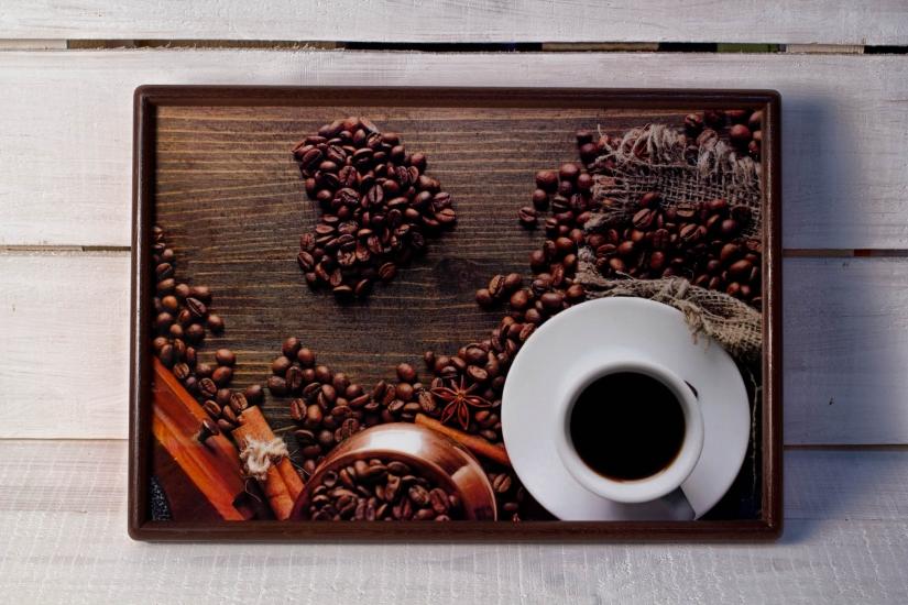 Фото - Поднос с подушкой Кофе Love купить в киеве на подарок, цена, отзывы