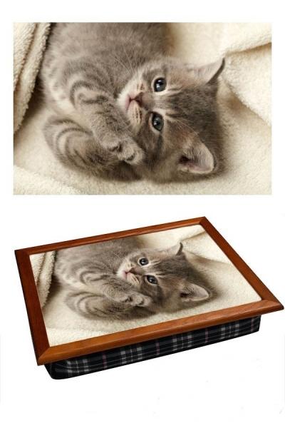 Фото - Поднос с подушкой Котенок  купить в киеве на подарок, цена, отзывы