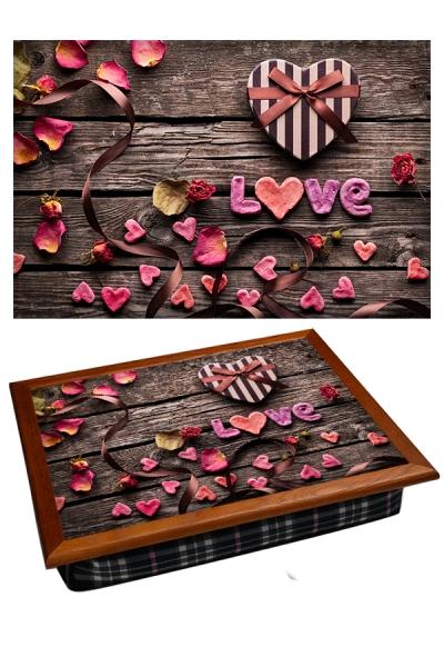 Фото - Поднос с подушкой Love  купить в киеве на подарок, цена, отзывы