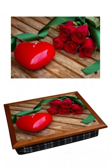 Фото - Поднос с подушкой Романтика 44см купить в киеве на подарок, цена, отзывы
