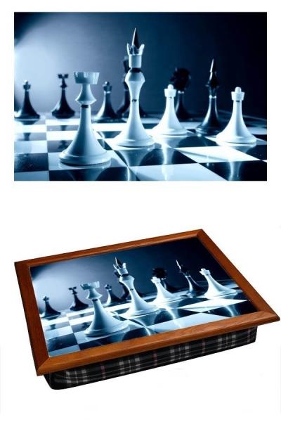 Фото - Поднос с подушкой Шахматы купить в киеве на подарок, цена, отзывы
