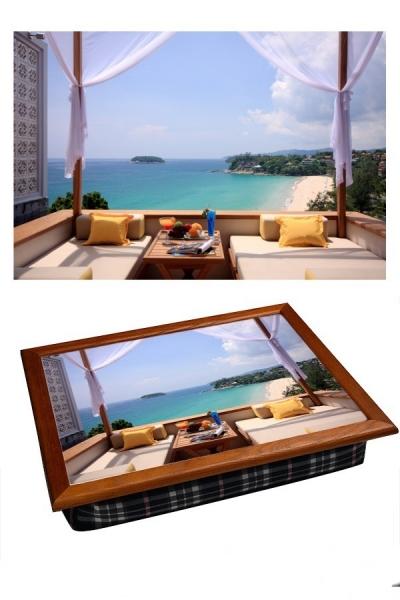 Фото - Поднос с подушкой Вид из окна купить в киеве на подарок, цена, отзывы