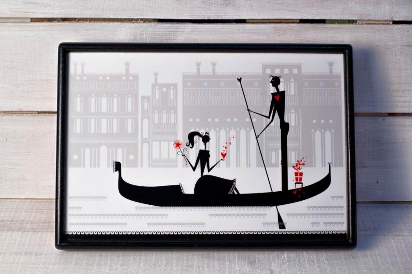 Фото - Поднос с подушкой Влюбленность купить в киеве на подарок, цена, отзывы