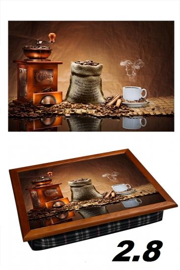 Фото - Поднос с подушкой ароматный кофе купить в киеве на подарок, цена, отзывы