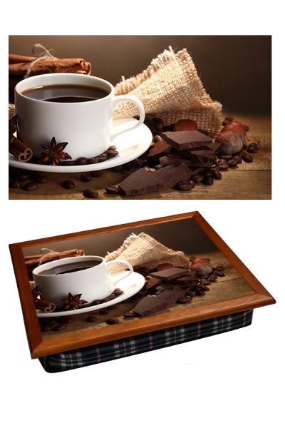 Фото - Поднос с подушкой корица и шоколад купить в киеве на подарок, цена, отзывы