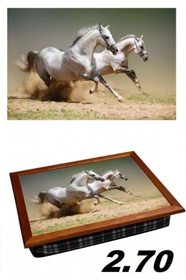 Фото - Поднос с подушкой пара лошадей купить в киеве на подарок, цена, отзывы