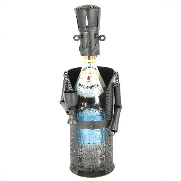 Фото - Подставка под бутылку сомелье с бокалом купить в киеве на подарок, цена, отзывы