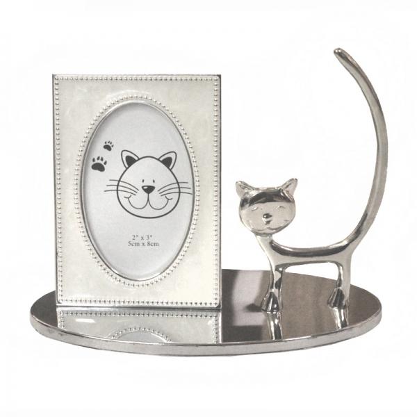 Фото - Подставка под кольца с рамкой Котик купить в киеве на подарок, цена, отзывы