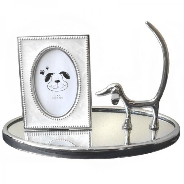 Фото - Подставка под кольца с рамкой Песик купить в киеве на подарок, цена, отзывы