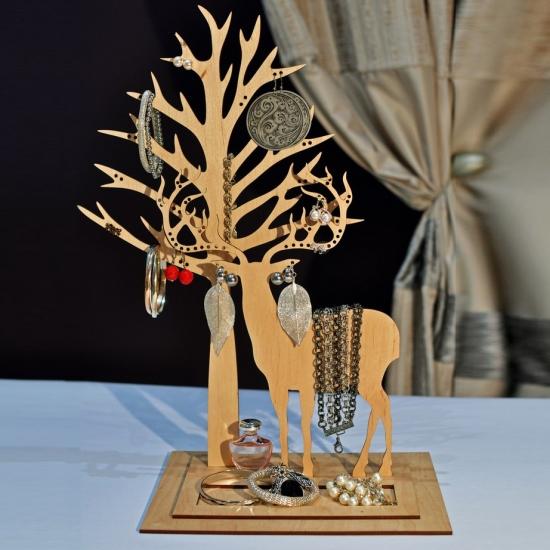 Фото - Подставка под украшения  Олень Улль с деревом купить в киеве на подарок, цена, отзывы
