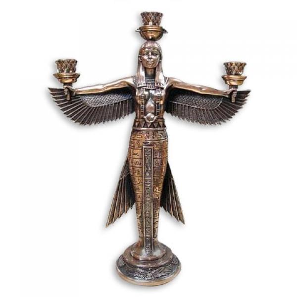 Фото - Подсвечник богиня Маат - символ справедливости купить в киеве на подарок, цена, отзывы