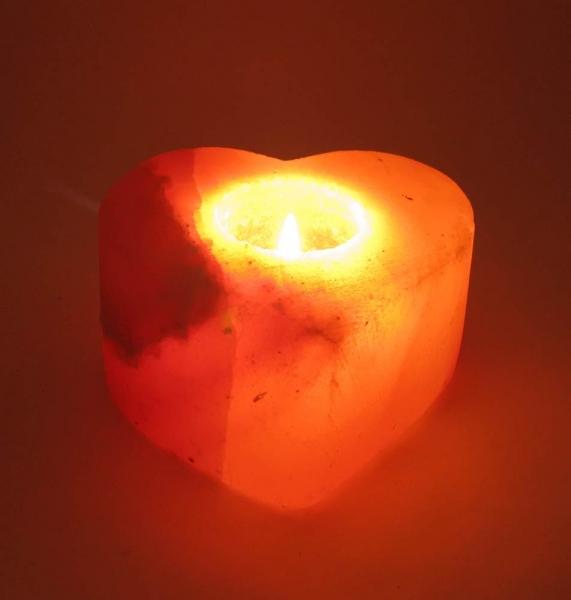 Фото - Подсвечник соляной сердце (11,5Х11Х6 см) купить в киеве на подарок, цена, отзывы