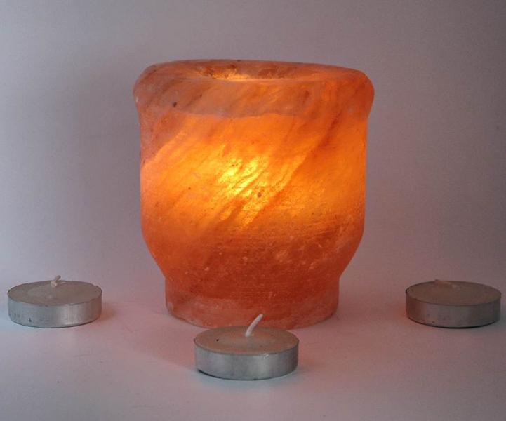 Фото - Подсвечник соляной шлифовальный цилиндрический 10 х 9 см купить в киеве на подарок, цена, отзывы