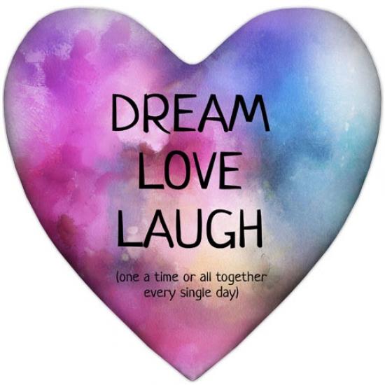 Фото - Подушка-сердце Dream Love Laugh купить в киеве на подарок, цена, отзывы