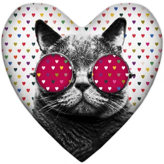 Фото - Подушка-сердце кот купить в киеве на подарок, цена, отзывы