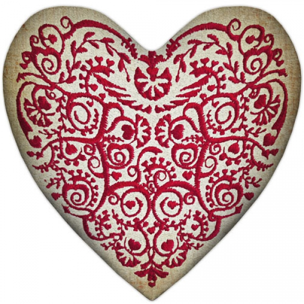 Фото - Подушка-сердце орнамент купить в киеве на подарок, цена, отзывы