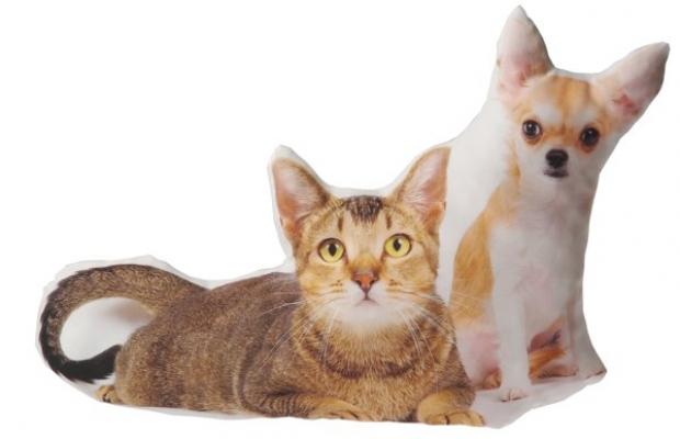 Фото - Подушка Кошка и собака купить в киеве на подарок, цена, отзывы