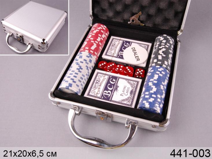 Фото - Покерный набор в Металическом кейсе 100 купить в киеве на подарок, цена, отзывы