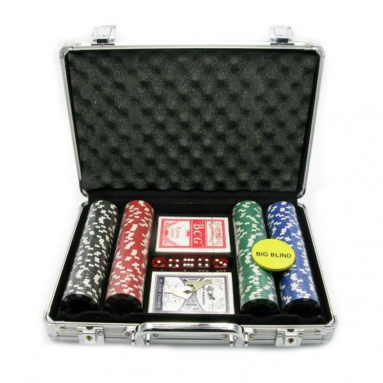 Фото - Покерный набор в Металическом кейсе 200 фишек купить в киеве на подарок, цена, отзывы