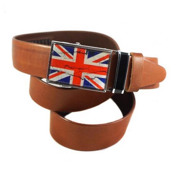 Фото - Ремень Британский флаг коричневый купить в киеве на подарок, цена, отзывы