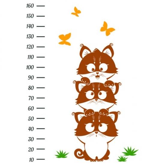 Фото - Ростомер Настенный Funny Kittens купить в киеве на подарок, цена, отзывы
