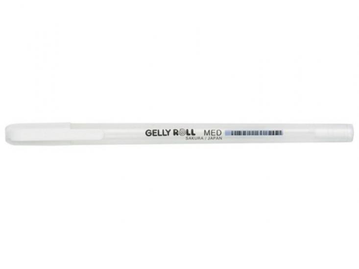 Фото - Ручка гелевая SAKURA Gelly roll (белая) купить в киеве на подарок, цена, отзывы